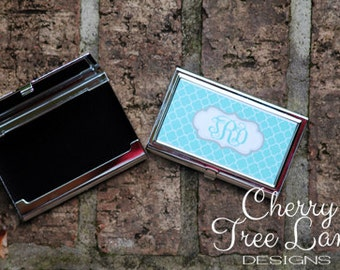 Personalized Business Card Holder - Personalized Credit Card Holder - Design you Own - Card Holder with Monogram