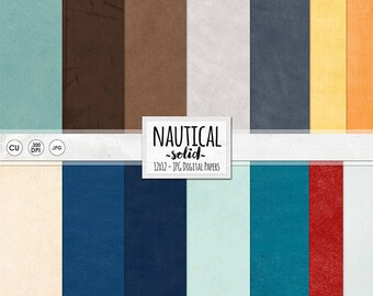 Nautical Solid Cardstock, Red & Blue Textured Scrapbook Paper, Instant Download Background Paper, Navy, Ocean, Digital Card Stock