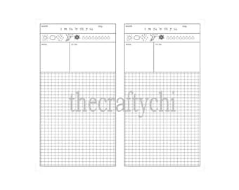 Hobinichi, TN, Traveler's Notebook, Midori-, Personal, Printable, Digital Download