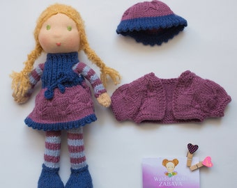Knitted doll Waldorf doll Waldorfpuppe Waldorf dolls Waldorf baby doll Waldorf doll clothes Steiner doll Poupée waldorf Handmade dolls