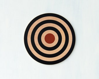 "Target Wall Decor, Circle Wall Art, Target Art, Bull's Eye Art, Archery Target Decor, Target Wall Hanging,16"" Circle,Your Choice of Colorway"