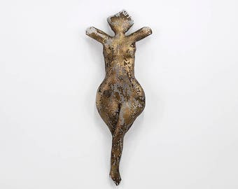 Sexy Nude Figure, Metal sculpture torso wire mesh sculpture home decor metal wall art
