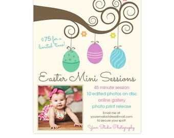 Easter Mini Session Marketing Board Template - INSTANT DOWNLOAD