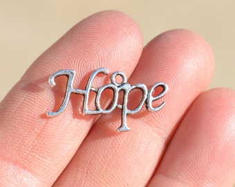 5 Silver HOPE Charms SC2030