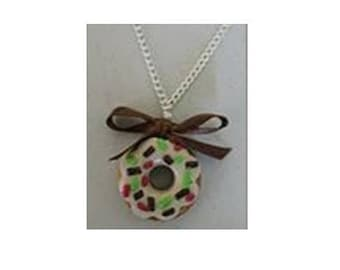 Vanilla donut necklace