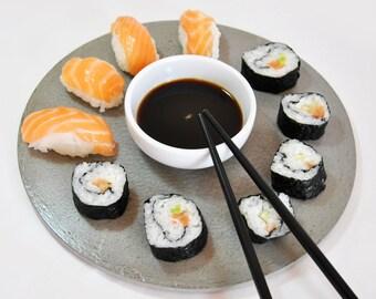 Concrete serving dish| Sushi | cement mat| Appetizer dish | Individual tablecloth | Centerpiece