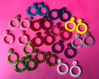 Bonnie Acrylic Hoop earrings