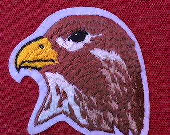 BEAUTIFUL HAWK Head Patch Mint Condition Detailed Item WILDLIFE Bird Raptor