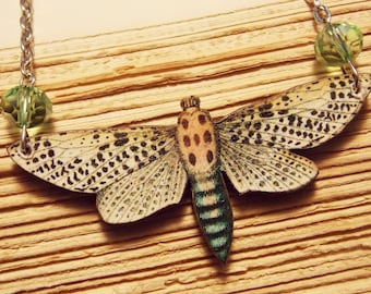 Wooden Dragonfly Pendant