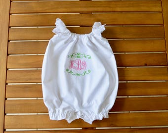 Infant Baptism Christening personalized romper FREE monogram!