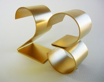 "Metal table numbers freestanding for weddings/events/parties-Empire 4"" now COPPER numbers too!"