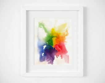 LGBTQ Pride Watercolor Art Print / Rainbow Art / Pride Art / LGBTQ Art / Gay Pride Art / Gift for LGBTQ / lgbt