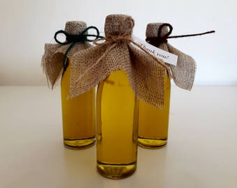 FREE SHIPPING! - 50 pcs of Greek extra virgin olive oil wedding gift favours - Add your customised message!