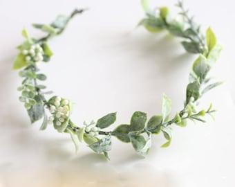 Flower Crown / Lindsay Boho Leaf Crown // Wedding, Bridesmaids, Flower girl, Prom