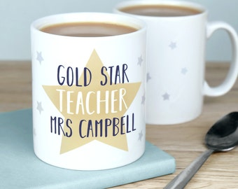 Star Teacher Mug - Personalised Teacher Gift - gifts for teachers - teacher mug - teacher gift - Christmas present for teacher
