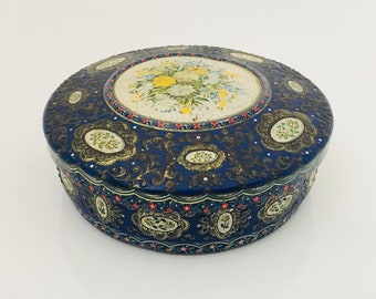A Vintage Floral Tin, Made In Holland.