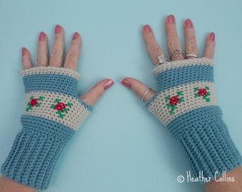 CROCHET PATTERN - Rosie Mitts Pretty Wrist Warmers