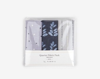 3 Quarter Linen Fabric Pack Misty Forest : Dailylike Canada