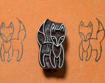 Intrepid Fox 197, wood block stamp