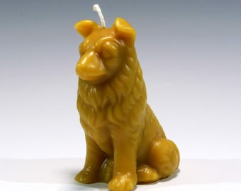 Beeswax Collie Candle Collie Candle Dog Candle Pure Beeswax Candle Border Collie Candle Sculpted Candle Eco Friendly Candle Dog Lover Candle