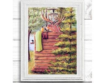 Rustic Bathroom Wall Decor, Christmas Gift For Man, Bathroom Wall Art, Rustic Theme Bathroom, Gift for Men, Christmas Gift For Boyfriend