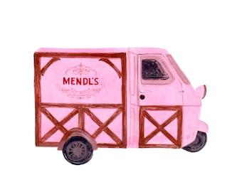 Grand budapest hotel Mendl's truck