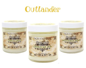 Outlander Bookish Candles, Soy Candles Handmade Literary Gifts For Fans of Sassenach