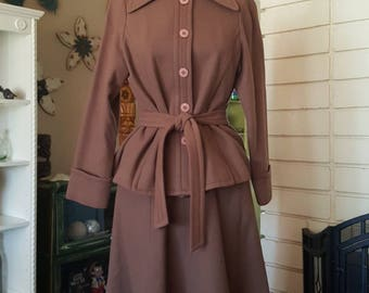 Vintage Wool Separates Skirt Suit Set by Fortuna