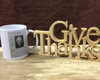 Give Thanks wood sign, inspirational home decor,home decor