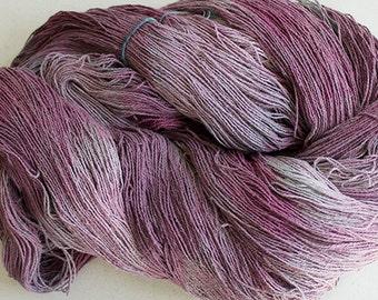 Stella, silk noil yarn, 1350 yds -  Plum