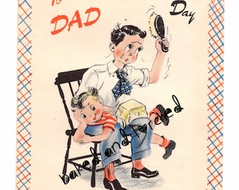 Vintage Buzza Father's Day Card Spank