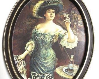 Collectible Drink Pepsi Cola Serving Tray Gibson Girl Metal Wall Hanger