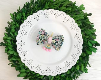 Liberty of London Fabric Bow in Chive Pastels