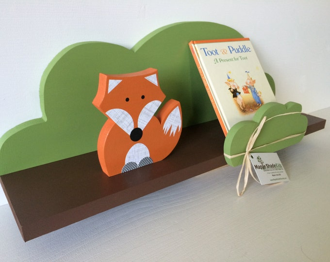 Featured listing image: Tree Shelf, Woodland Nursery, Forest Themed Kids Decor, Book Shelf, Forest Themed Nursery,  Kids Decor, eco friendly