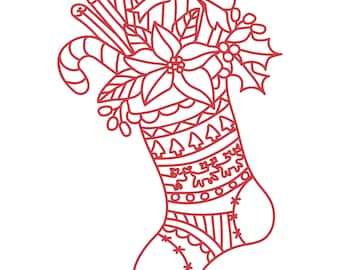 Stuffed Christmas Stocking Cut File .SVG .DXF .PNG