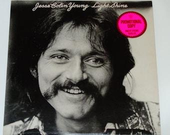 "Jesse Colin Young - Light Shine - ""Barbados"" - ""Motorcycle Blues"" - Promo Copy - WB Records 1974 - Vintage Vinyl LP Record Album"