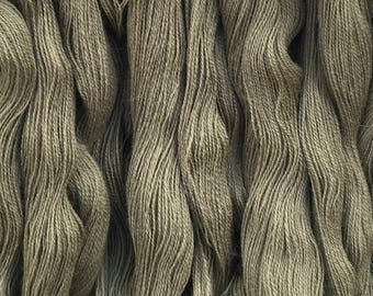 Wool Yarn - Fine and grey 100% pure wool yarn skein