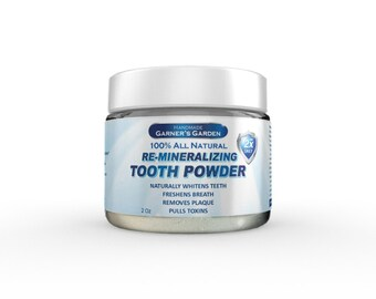 Tooth Powder | Remineralizing w/ Activated Charcoal