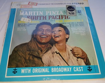 33 LP Album Record Stereo South Pacific Rodgers and Hammerstein Original Broadway Cast Martin Pinza Mary Martin Columbia
