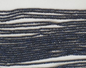 "BLUE SAPPHIRE rondelle fact beads 2mm 13"" each"