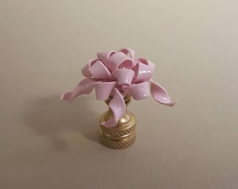 Gift Bow Lamp Finial....Hand Crafted in Custom Colors