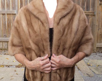 Wedding Special Occasion Wrap REAL Mink For CAPE Stole