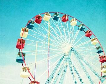 Seaside Heights Ferris Wheel // Boardwalk Carnival Photography // Jersey Shore Photography // Seaside Park Print // Ferris Wheel Photography