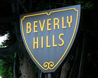 Beverly Hills Sign Photo Wall Art Print Home Decor Color Hollywood Souvenir Picture Poster (8x10)
