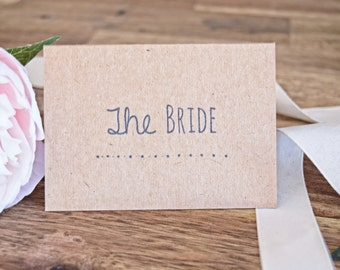 Bride and Groom Rustic Place Cards