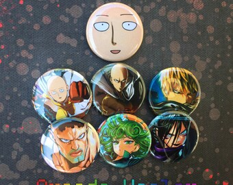 One Punch Man Pinback Button Set!