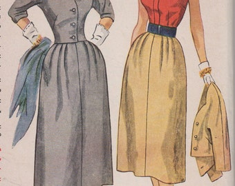 Bust 34-FACTORY FOLDED 1940's Misses' Halter, Skirt and Jacket Simplicity 3518 Size 16