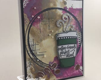 Coffee, Friends, Perfect Blend greeting card - coffee lovers greeting card