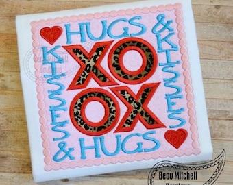 Hugs & Kisses applique