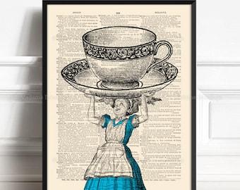 Wonderland Decor, Wonderland Gift, Wonderland Art Decor, Cute Girlfriend Gift, Alice In Wonderland, Wedding Favor Poster, Her Birthday  355